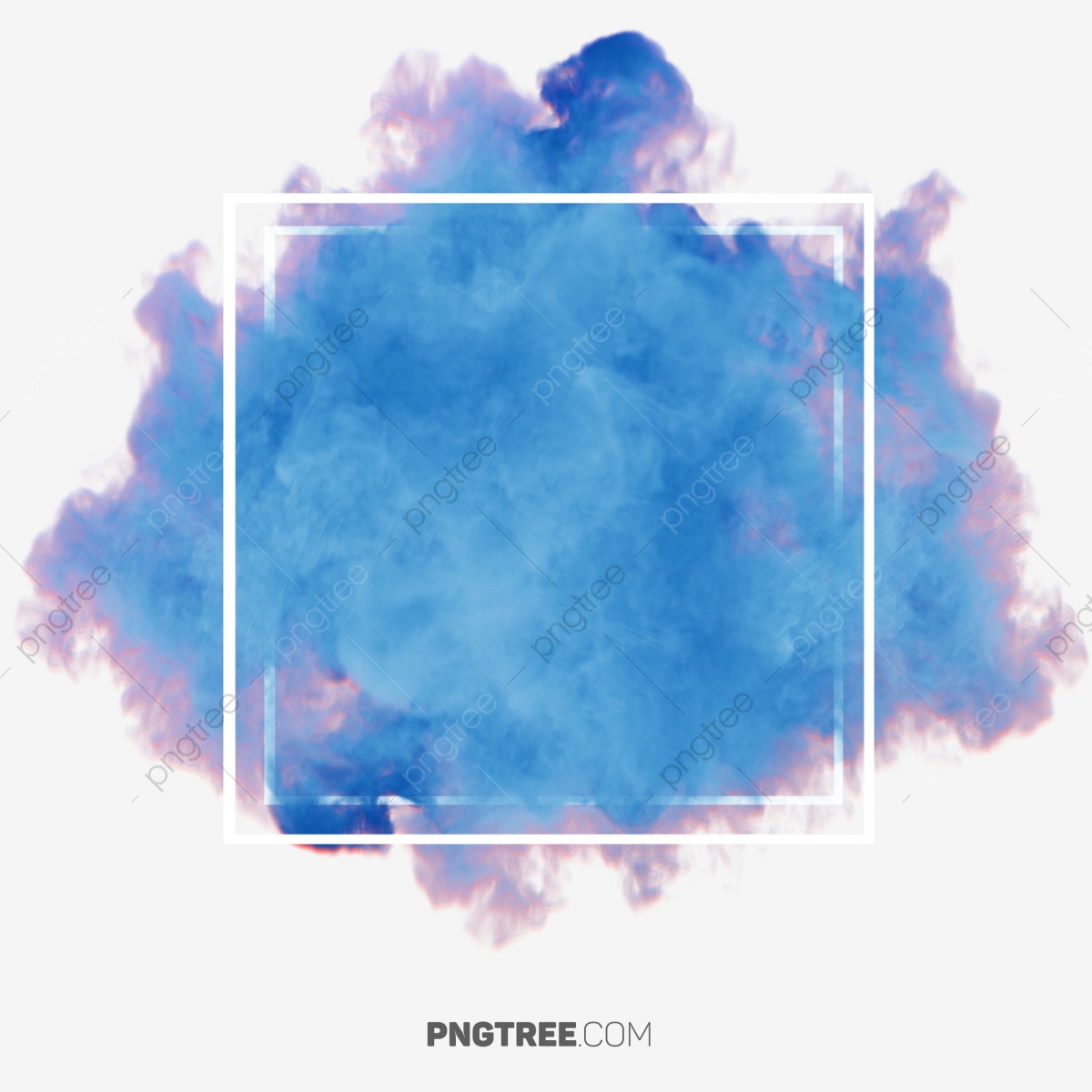 Colorful Smoke Abstract Frame Frame Pastel Square Png