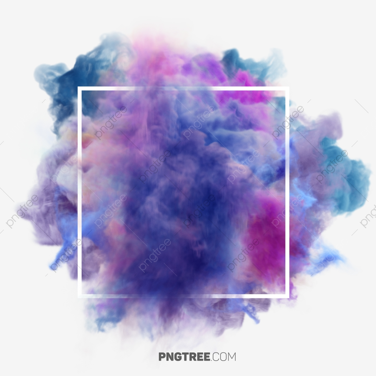 colorful smoke effect  pastel  square png transparent