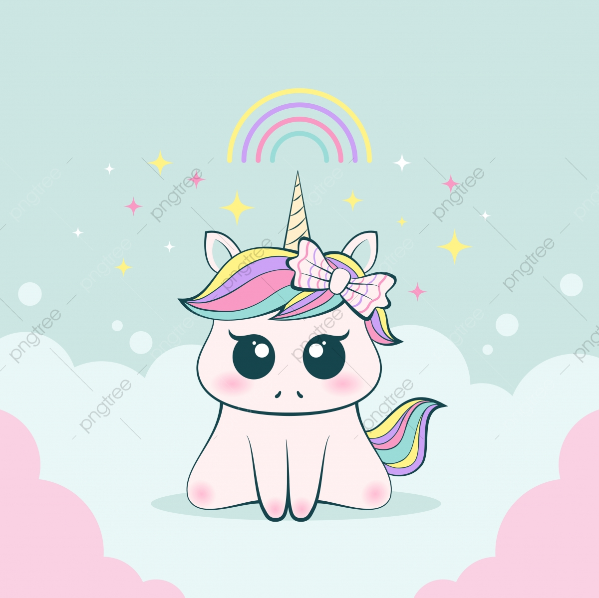 pngtree cute baby unicorn innocent and adorable expression. png image 3712635