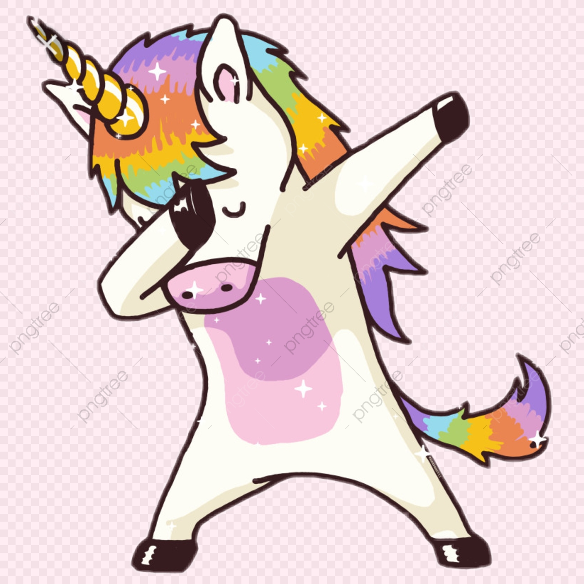 かわいいユニコーンを踊ってみた 無料 PNG そして PSD