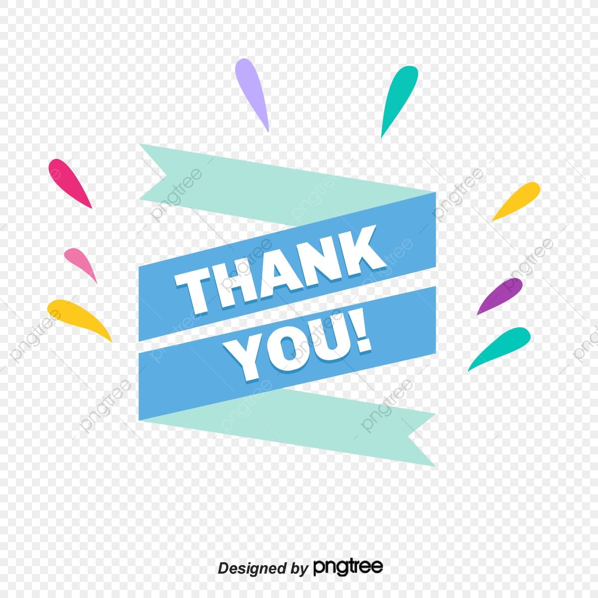 Design Of Blue Ribbon Splash Thank You Font Ppt Mapping Thank