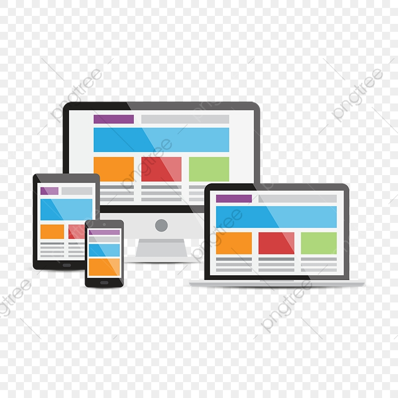 Devices Responsive Web Design, Adjustable, Black PNG and