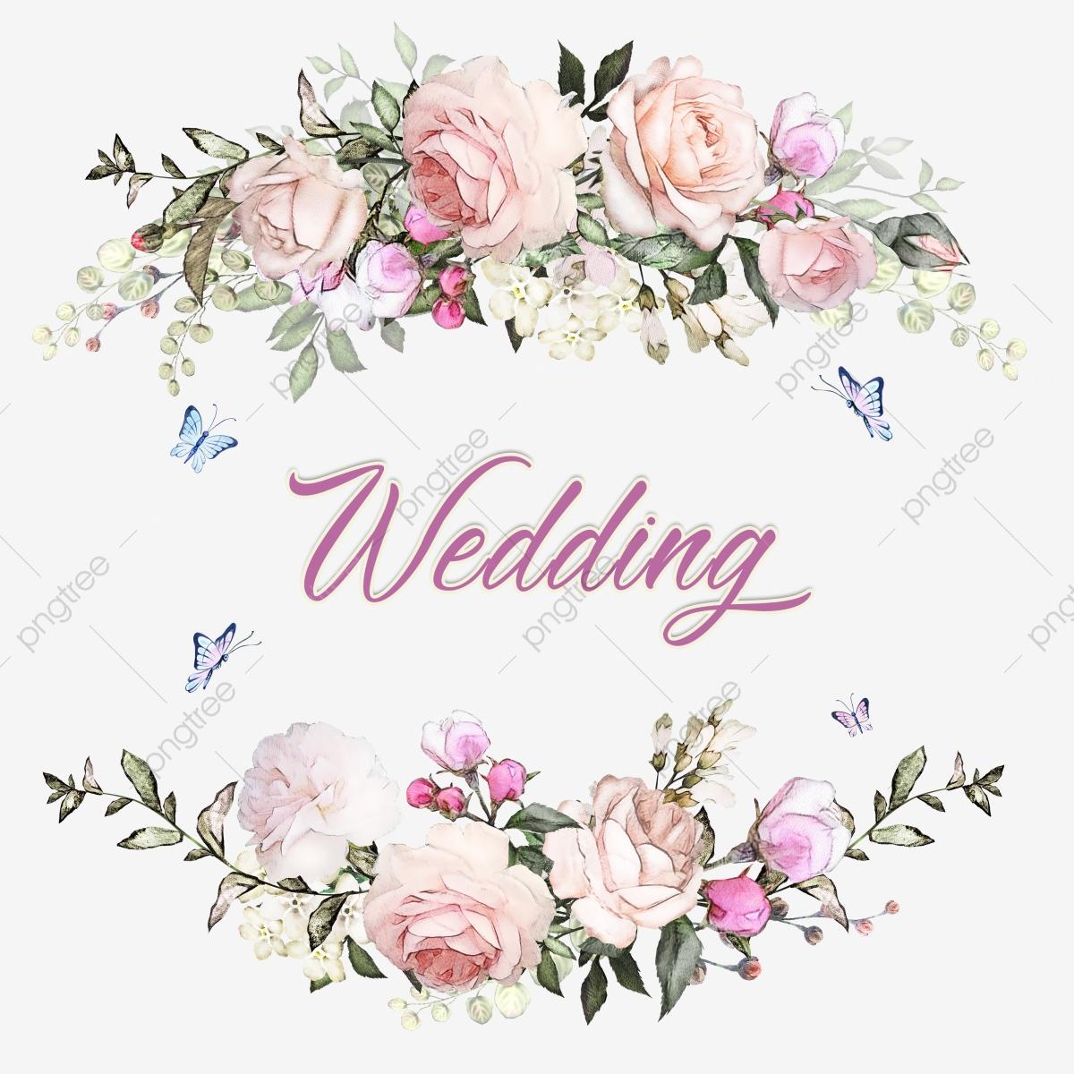 elegan undangan pernikahan bingkai latar belakang indah