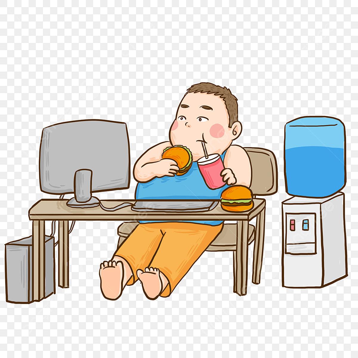 Văn Phòng ăn Hamburger Quá Mập Nhân Vật Trẻ Em Bàn miễn phí tải tập