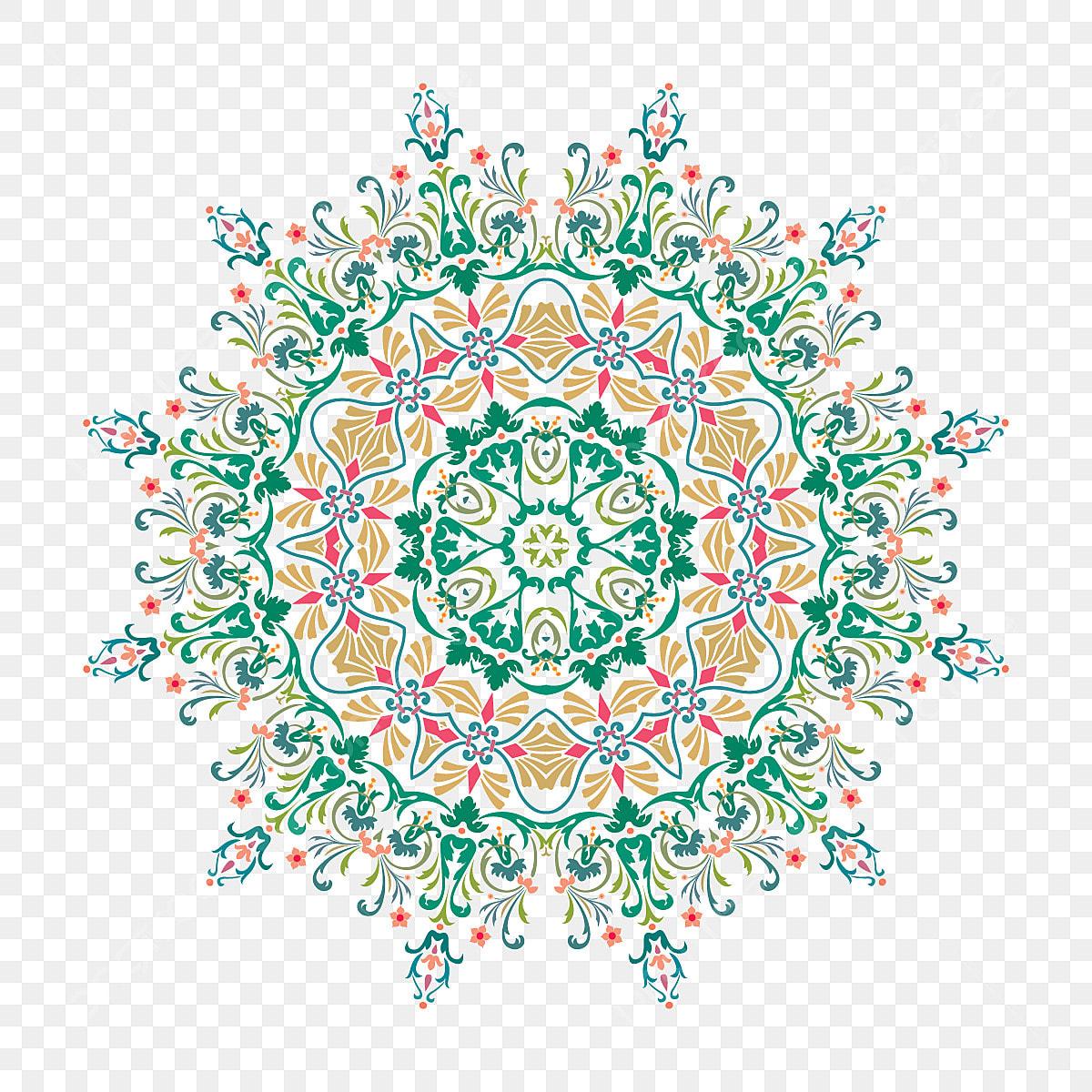 Mandala Oriental De Flor Para Colorir Vetor De Mandala Floral
