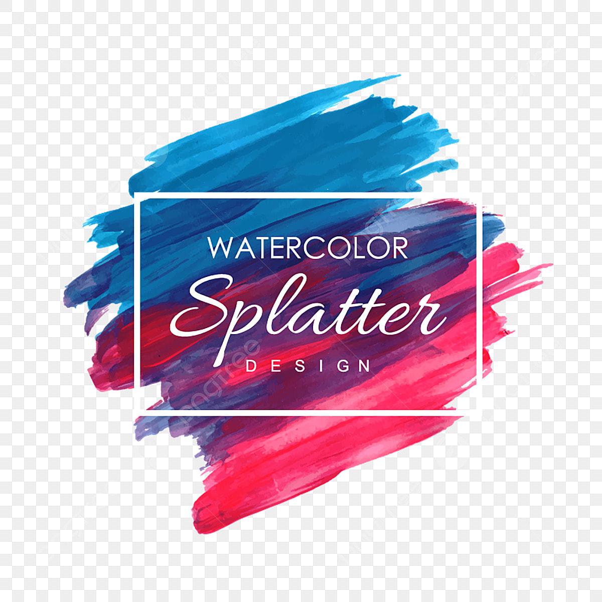 Hand Drawn Watercolor Splatter Designs Watercolor Splash