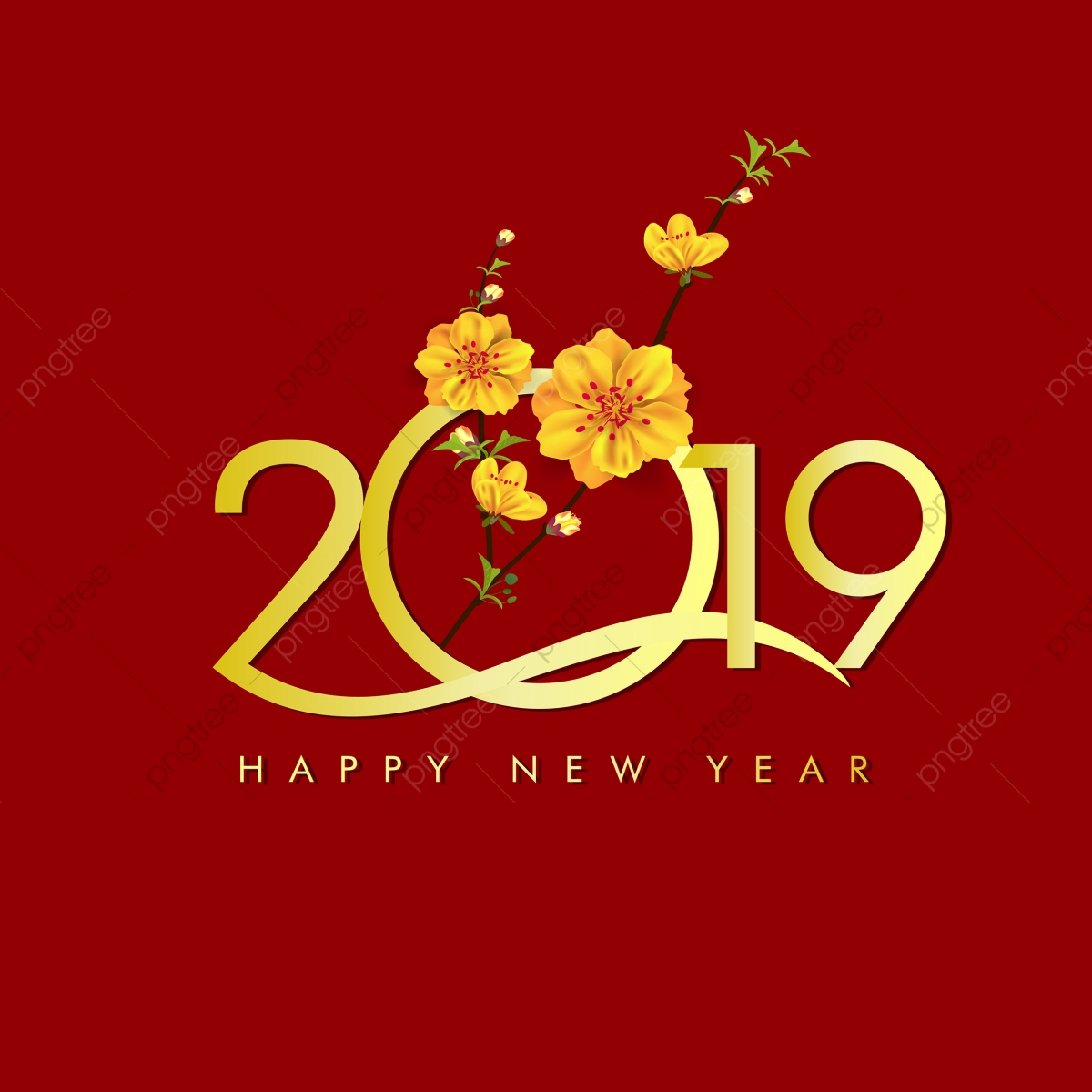 Happy New Year 2019 Chienese New Year Year Of The Pig, 2019
