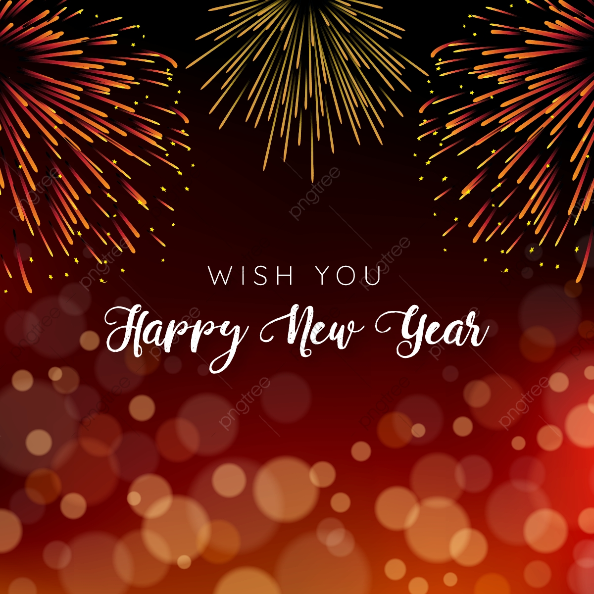 happy new year with fireworks and bokeh background abstract new year png and vector with transparent background for free download https pngtree com freepng happy new year with fireworks and bokeh background 3724971 html