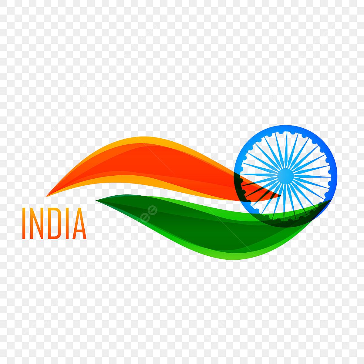 drapeau indien en mode conception vague drapeau l inde l