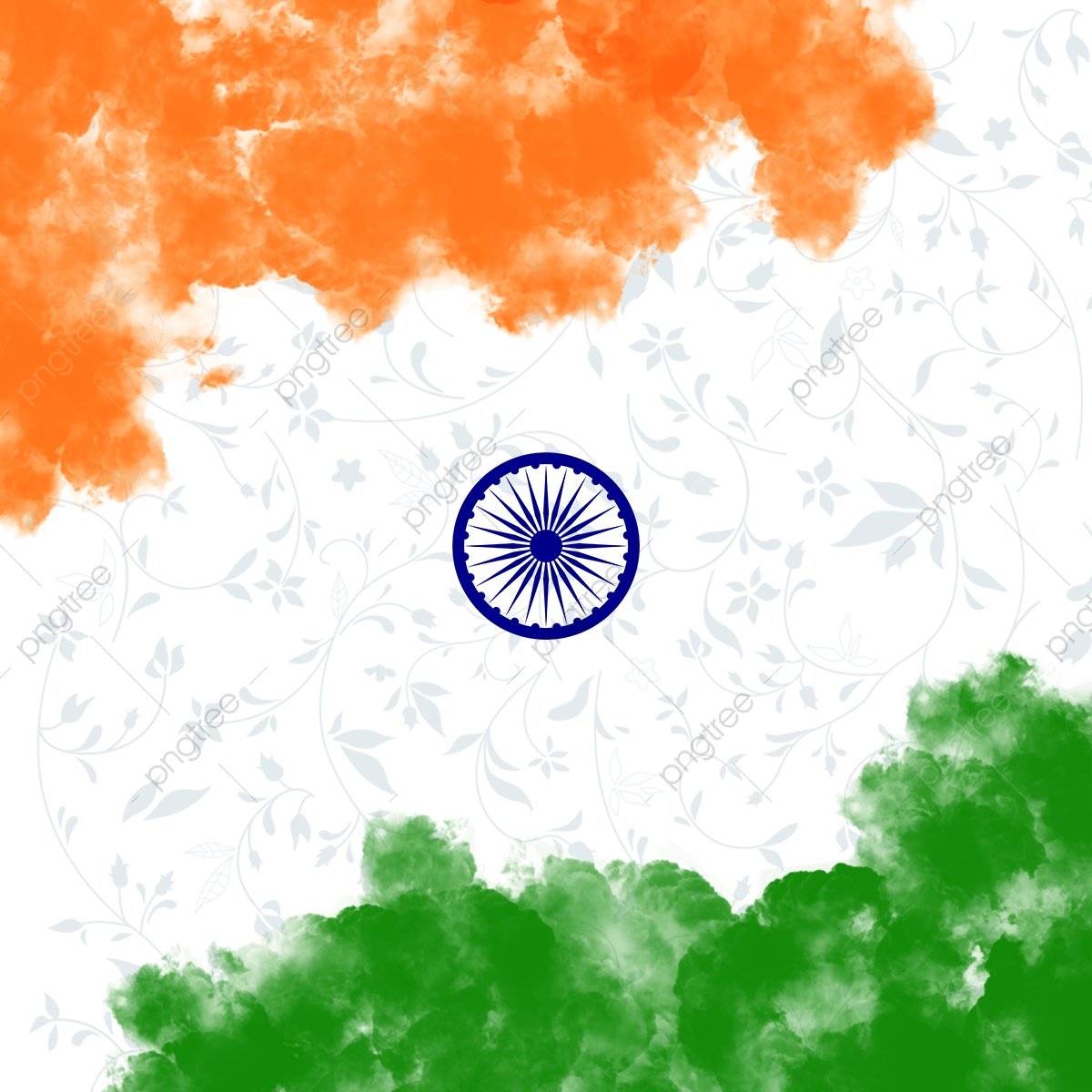 Indian Republic Day Background Independence Day Flag Png