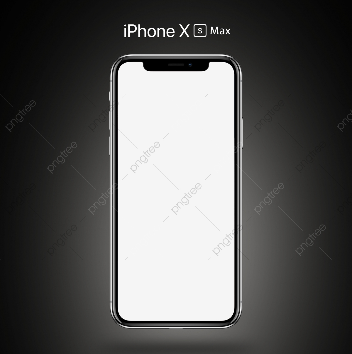 Iphone x actual size. Xs max gray mockup