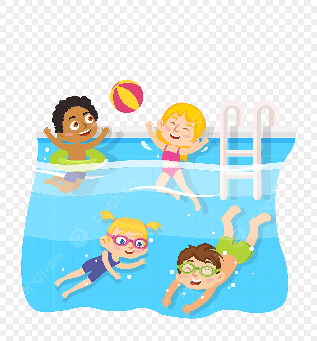 Kid Swimming Pool Children Swimming Learning To Swim
