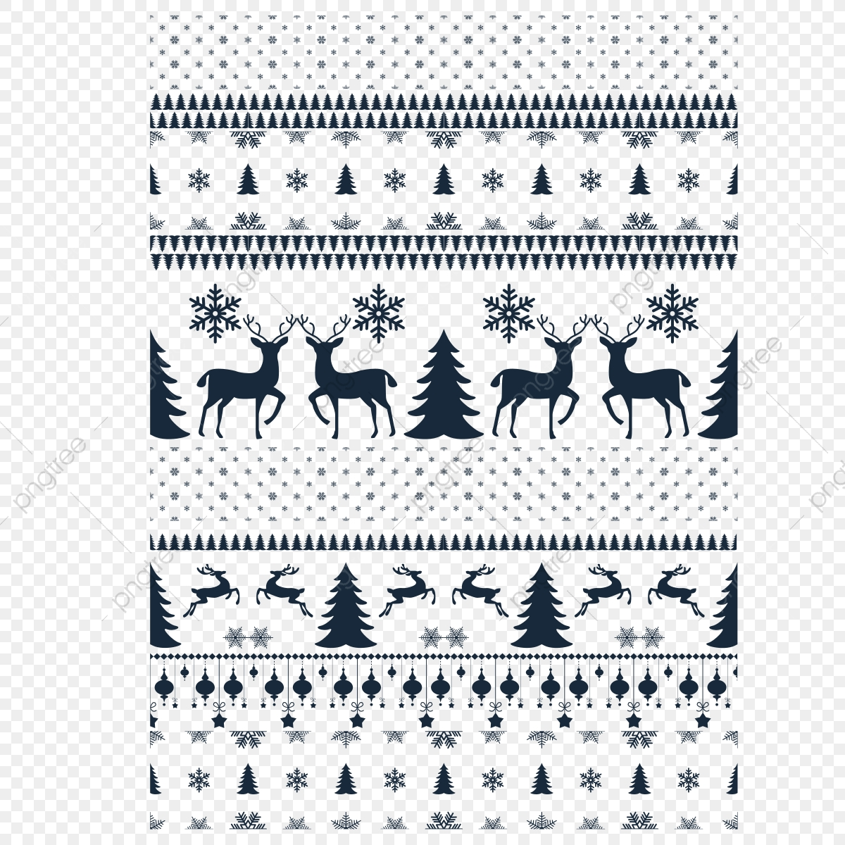 Knitted Elements And Borders For Or Design Sweater Ornaments For Scandinavian Pattern Vector Illustration Sweater Pattern Ugly Png And Vector With Transparent Background For Free Download