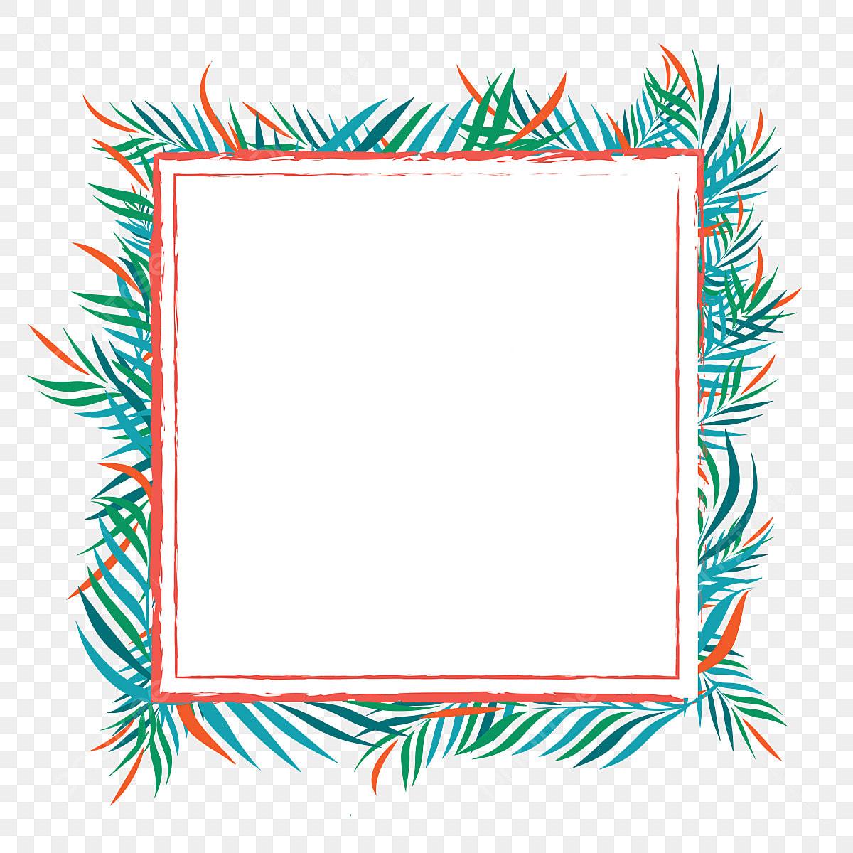 Leaf Floral Border Design Frame Green Flower Png And