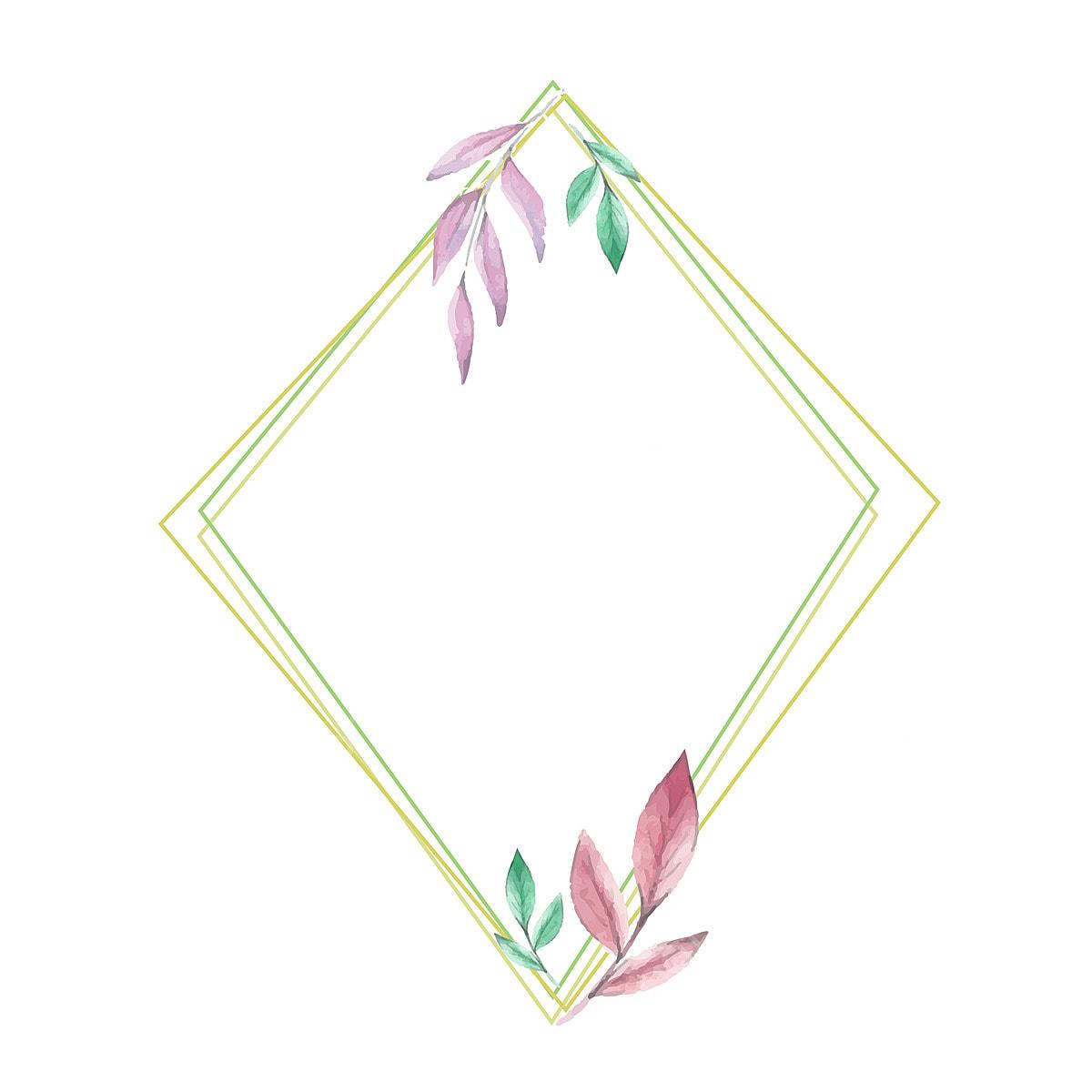 Minimalist Floral Frame Design Minimalist Floral Frame Png And
