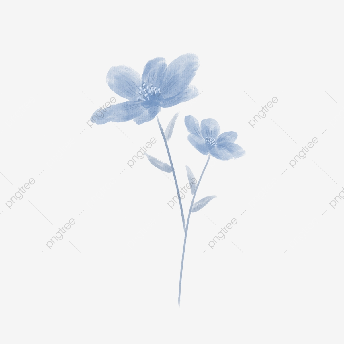 Blue Flowers Png Images Vector And Psd Files Free Download On Pngtree