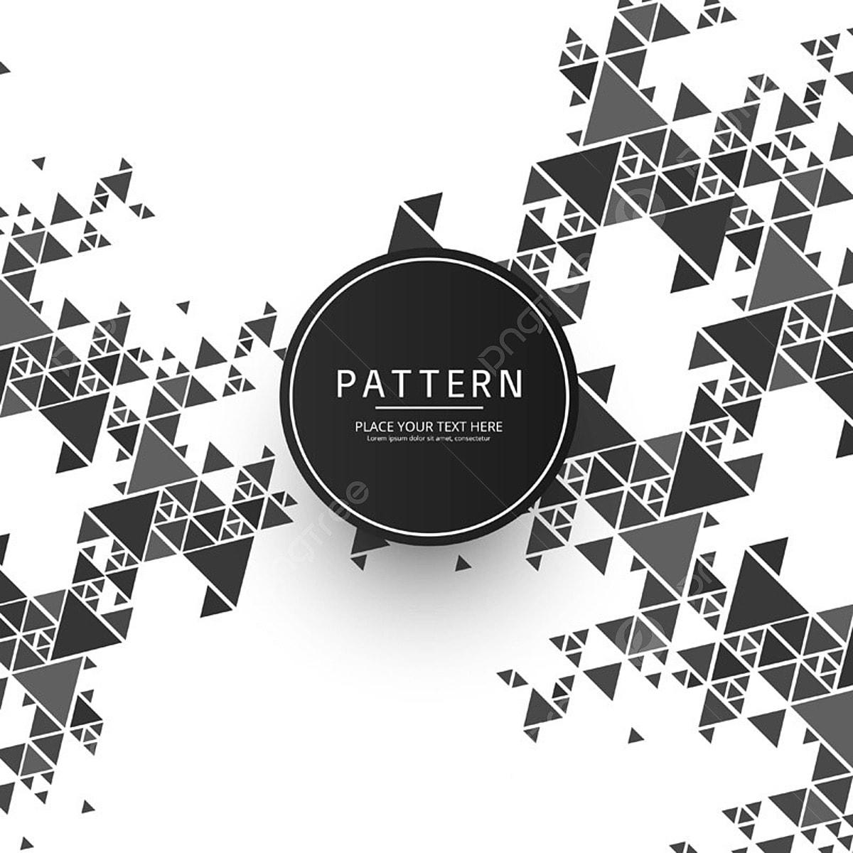 Modern Geometric Pattern Background, Geometric Vector