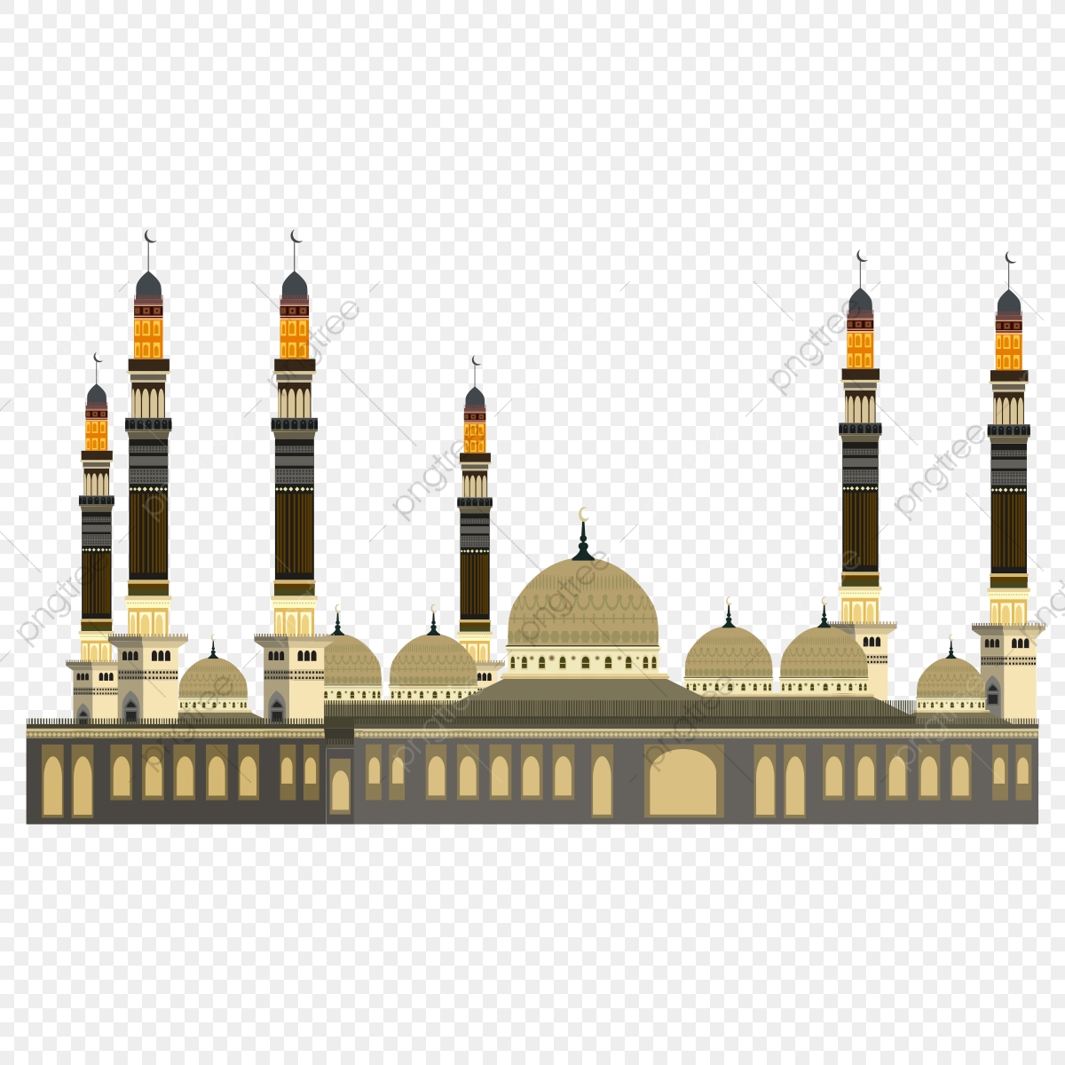 Mosque PNG Vector And PSD Files