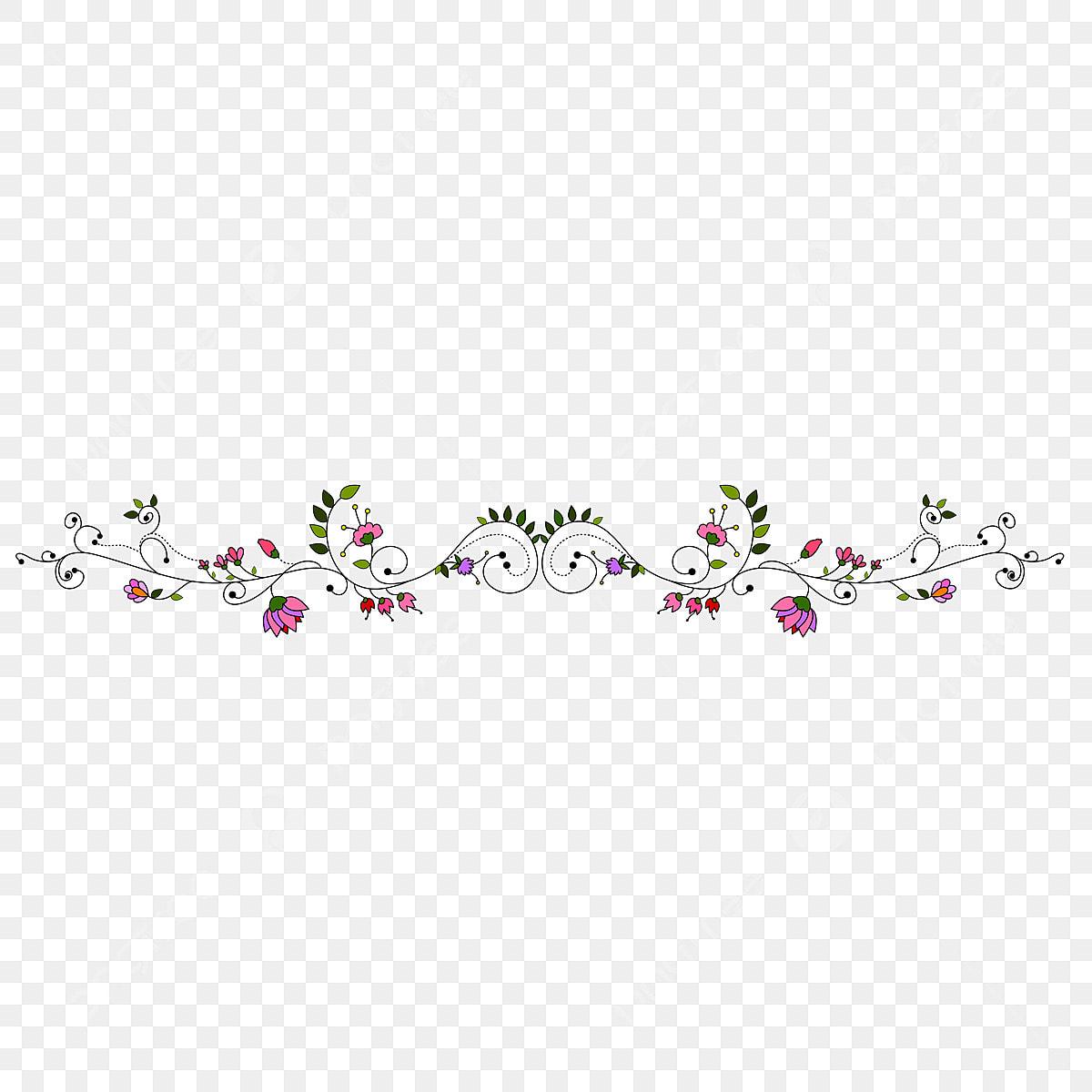 New Floral Border Design Frame Green Flower Png And