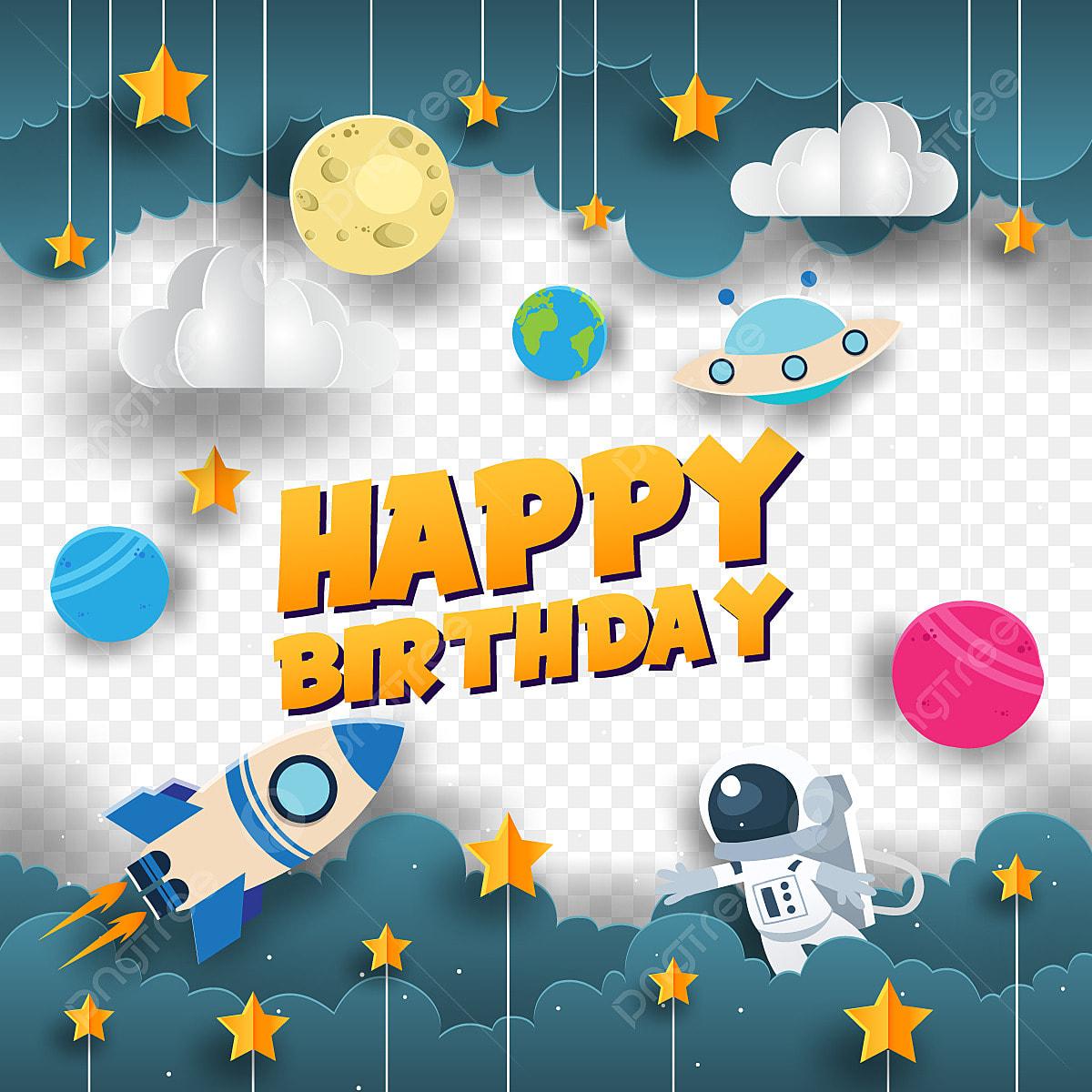 Для декоративных, с днем рождения открытки космос
