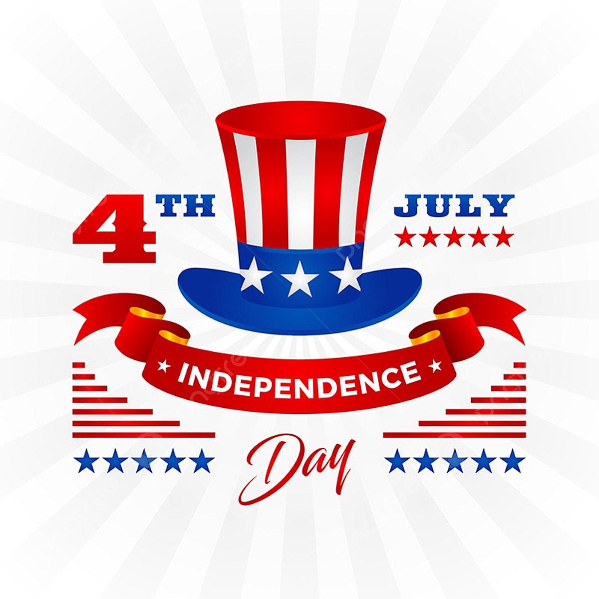 アメリカ 独立記念日のお祝いカードのイラストの7月の米国の愛国的な第4