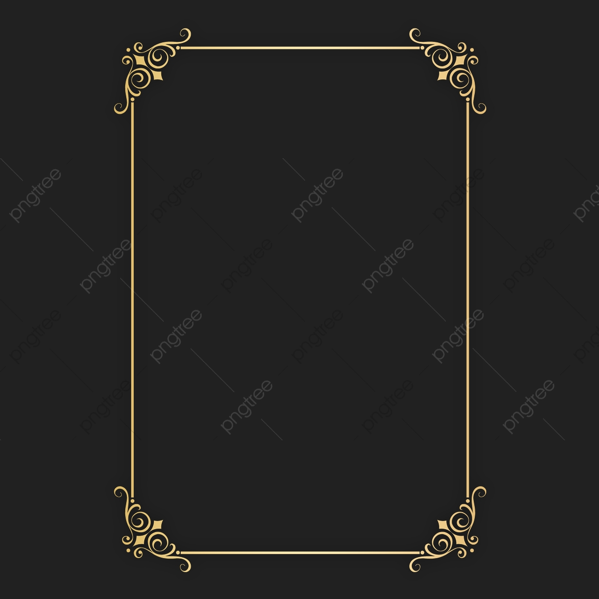 Perfect A4 Size Certificate Gold Border Png File Plus Psd