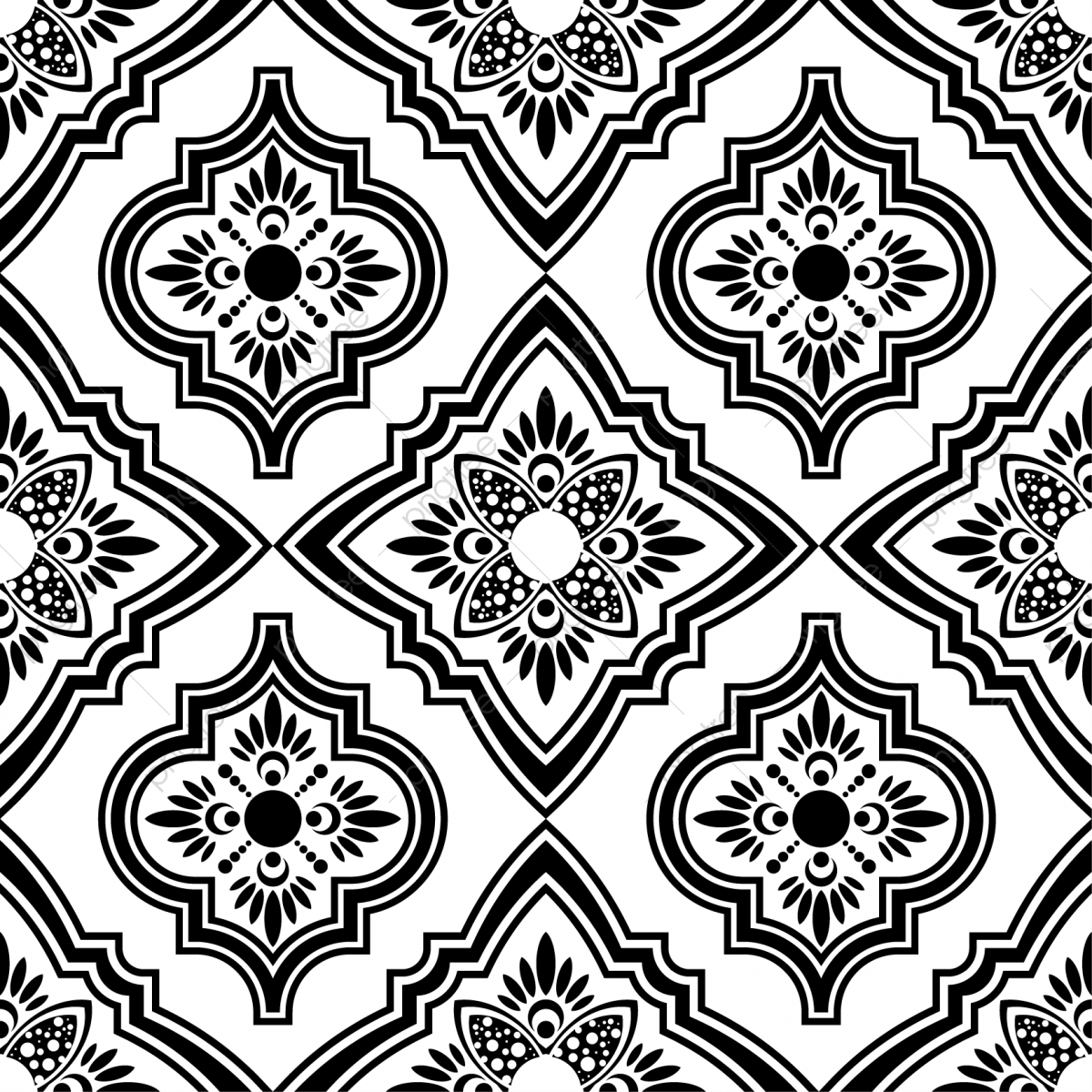 Persian Ethnic Seamless Pattern Square Design With Turkish And