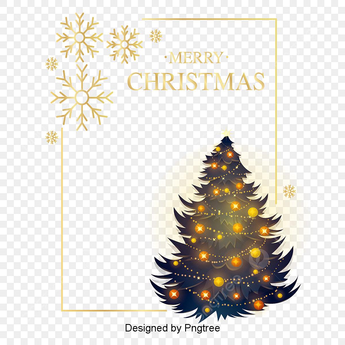 Marcos Para Fotos De Arbol De Navidad.Eses Marco Simple De Arbol De Navidad Dorado Frame Marcos