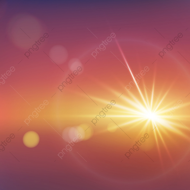 Realistic Sunlight Effect With Blurry Bokeh Vector, Light