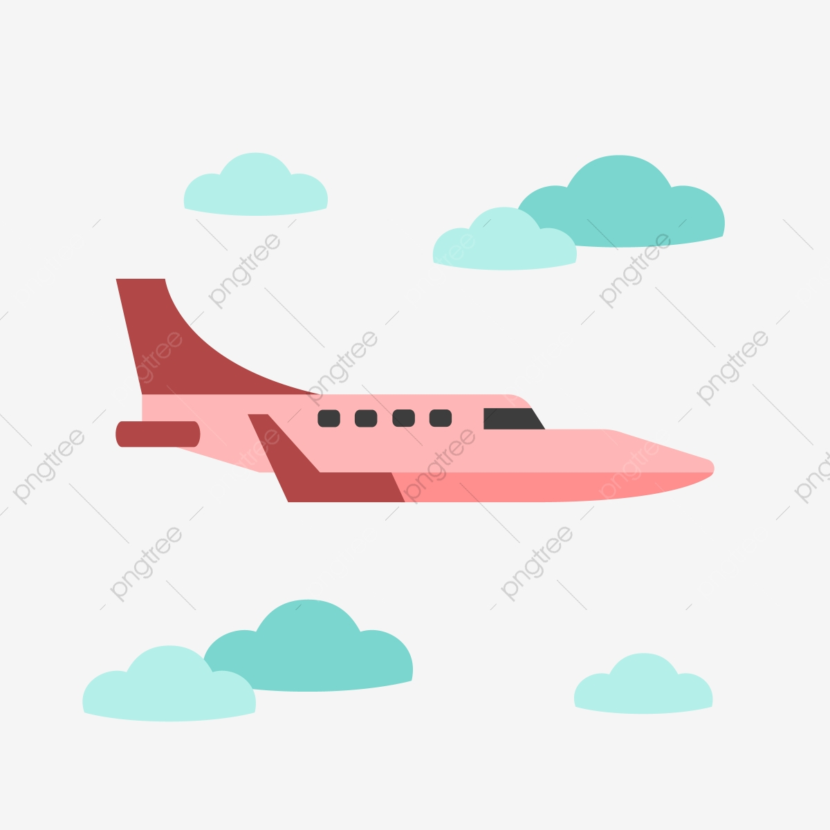 Red Airplane Clipart Red Airplane Clipart Png And Vector With Transparent Background For Free Download