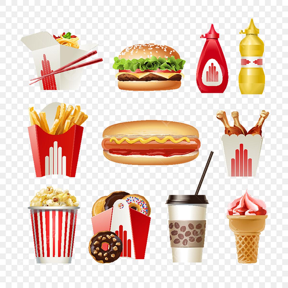 Fast Food Clipart Junk Food Restaurant ClipArt Essen und | Etsy