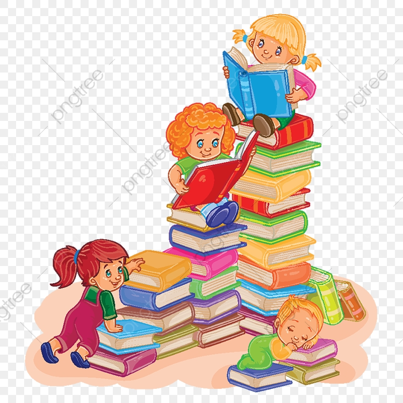 Small Children Reading A Book Reading Book Children Png