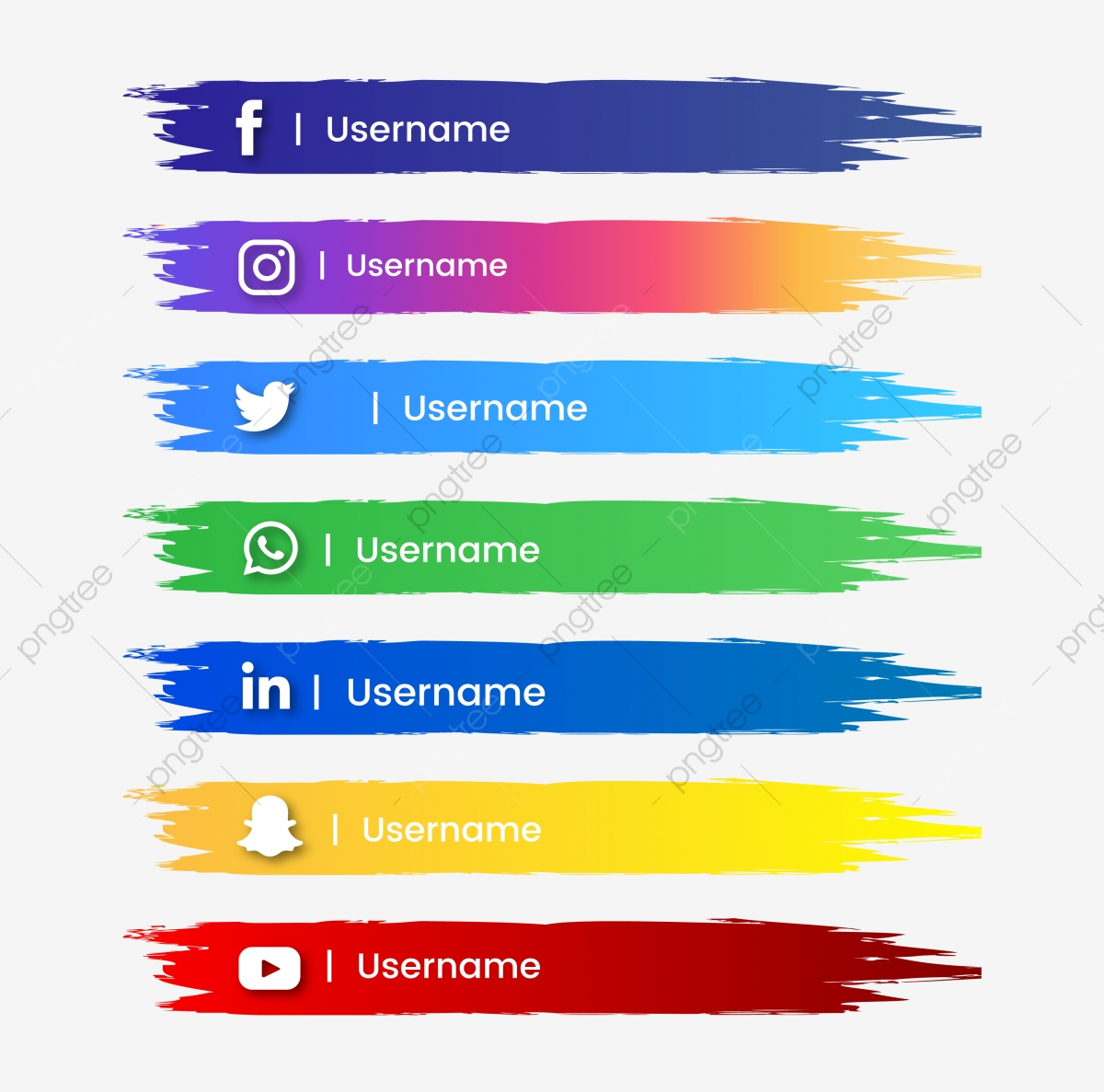 Social Media Button Abstract Brush Stroke And Color Gradient Social Media Youtube Png And Vector With Transparent Background For Free Download