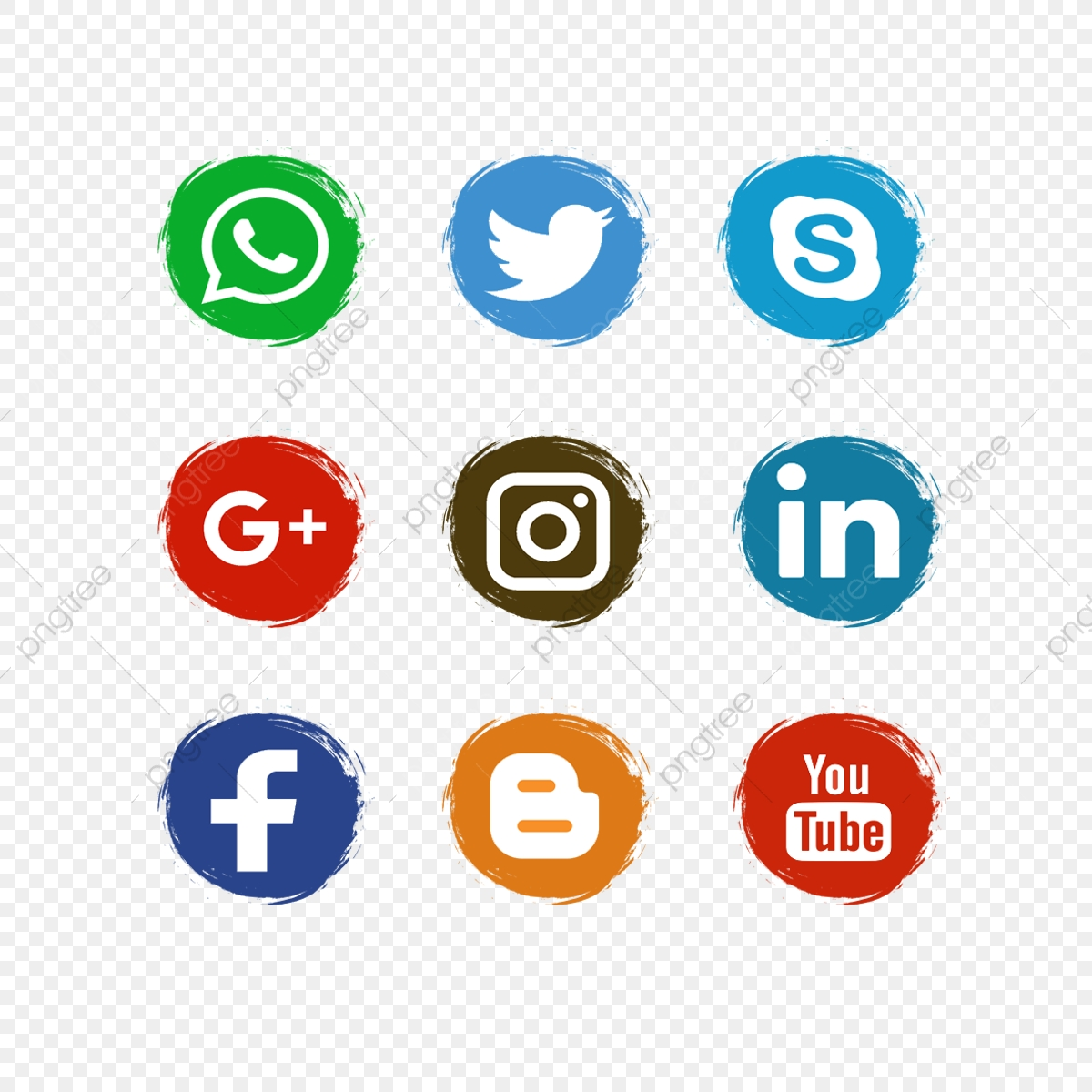 social media icons  facebook  wattsapp png and vector with