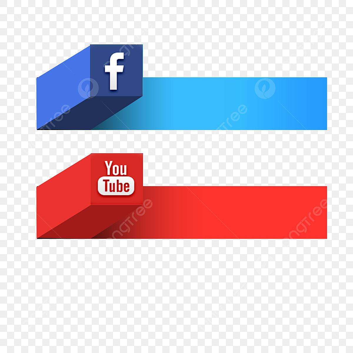 social media youtube facebook video r u00e9sum u00e9 contexte banner vecteur couleur fichier png et psd