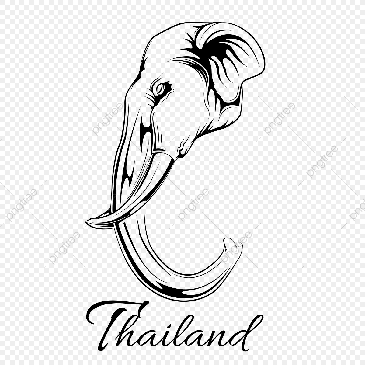 Thailand Elephant Vector Line Art Elephant Thailand Travel Png And Vector With Transparent Background For Free Download Download free elephant png images. https pngtree com freepng thailand elephant vector line art 3704916 html