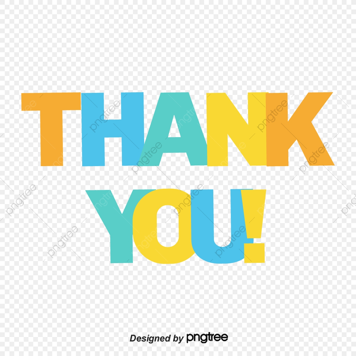 The Design Of Colorful And Bright Thank You Font Ppt Mapping
