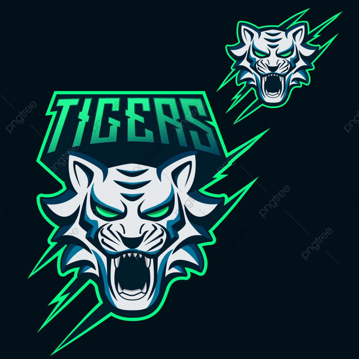 Tigers Esports Logo For Mascotand Twitch Free Logo Design Template Mascot Logo Team Png And Vector With Transparent Background For Free Download