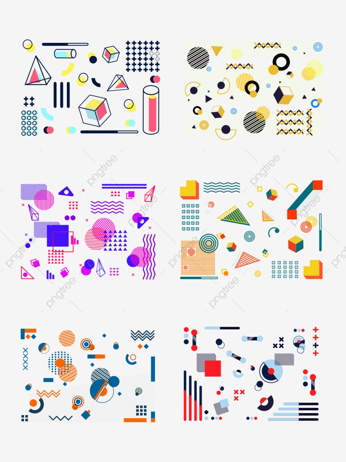 Trend Element Memphis Commercial Geometric Pattern ...