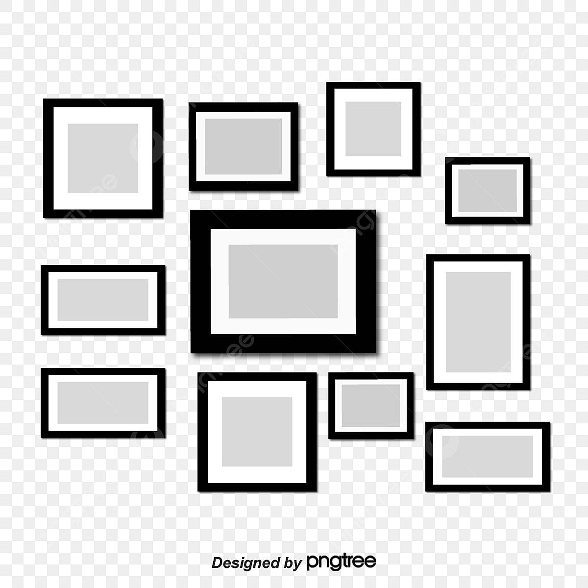 Gambar Dua Belas Susunan Dan Kombinasi Bingkai Foto Sempadan Hitam Photo Clipart Putih Bingkai Foto Png Dan Vektor Untuk Muat Turun Percuma