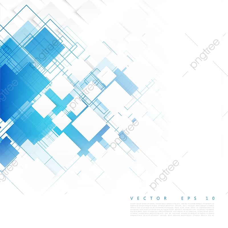 Vector Blue Squares Abstract Background Blank Blue Grey Png And