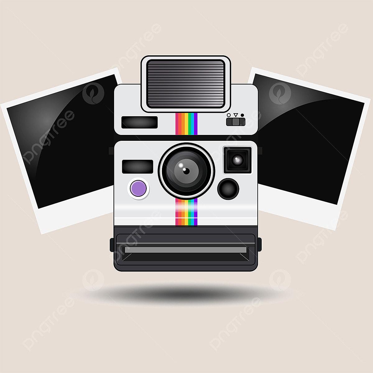 Vector Polaroid Camera, Camera, Vector Camera, Polaroid PNG