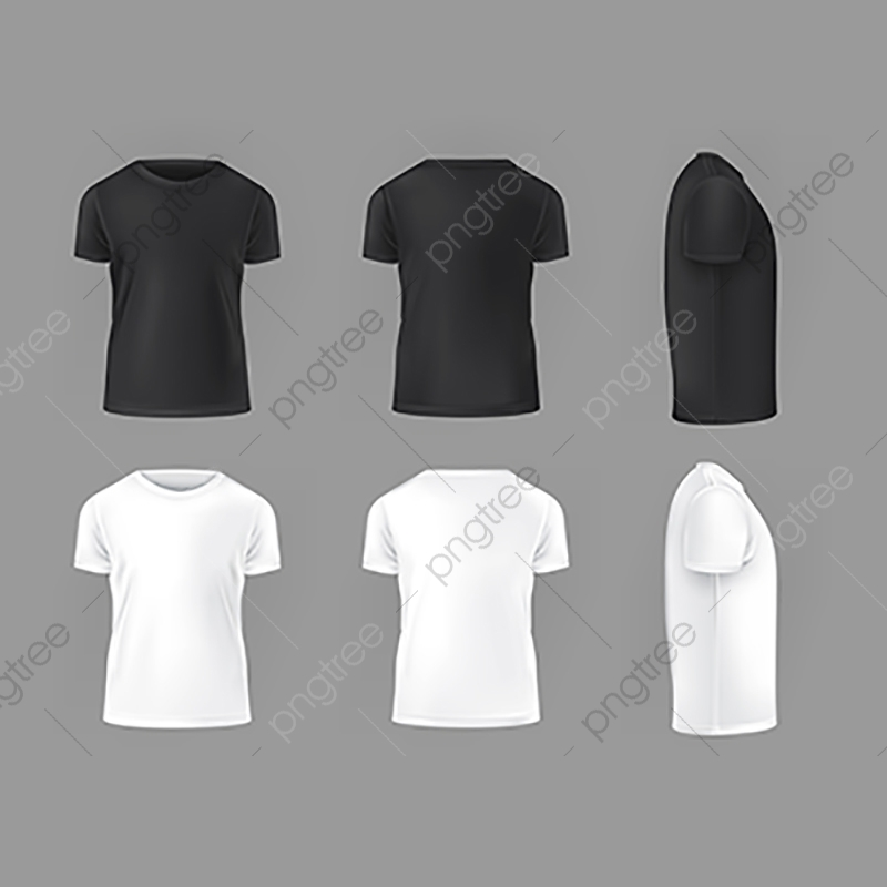 Vector Set Template Of Male T Shirts Shirt Template Png And