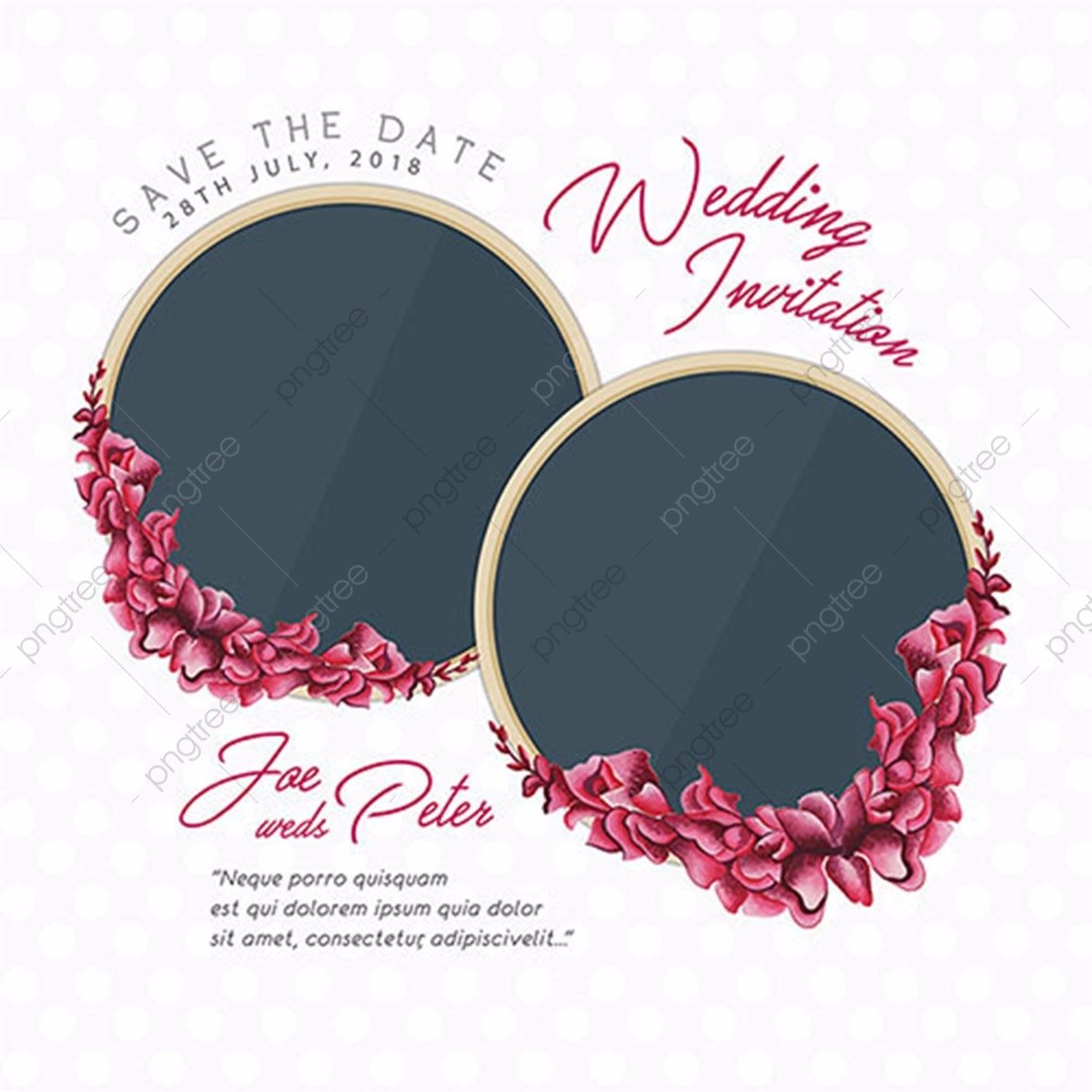 Wedding Card PNG Images  Vector and PSD Files  Free Download on