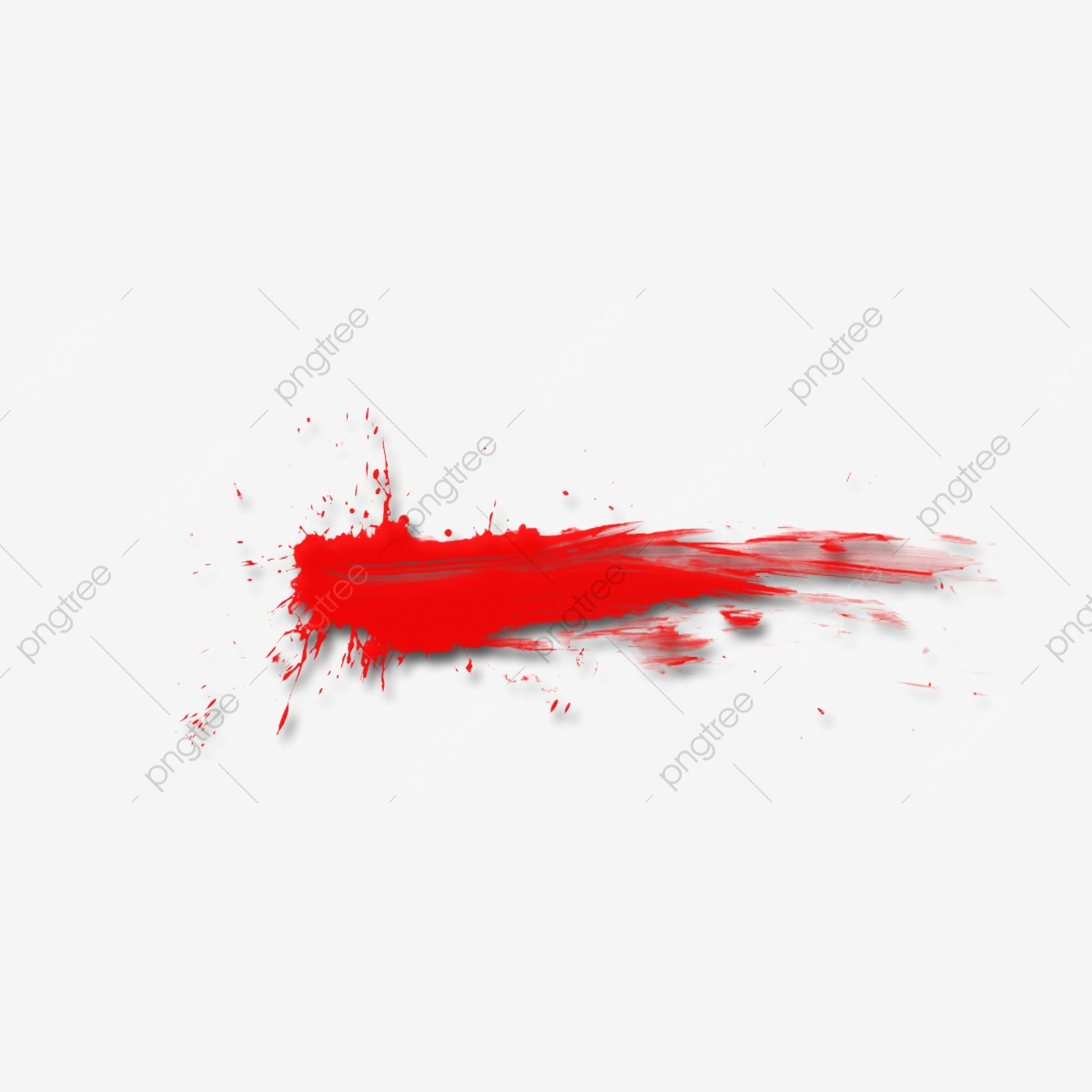 Watercolor Splash Blood Hand Brush Bloodstain, Red, Blood