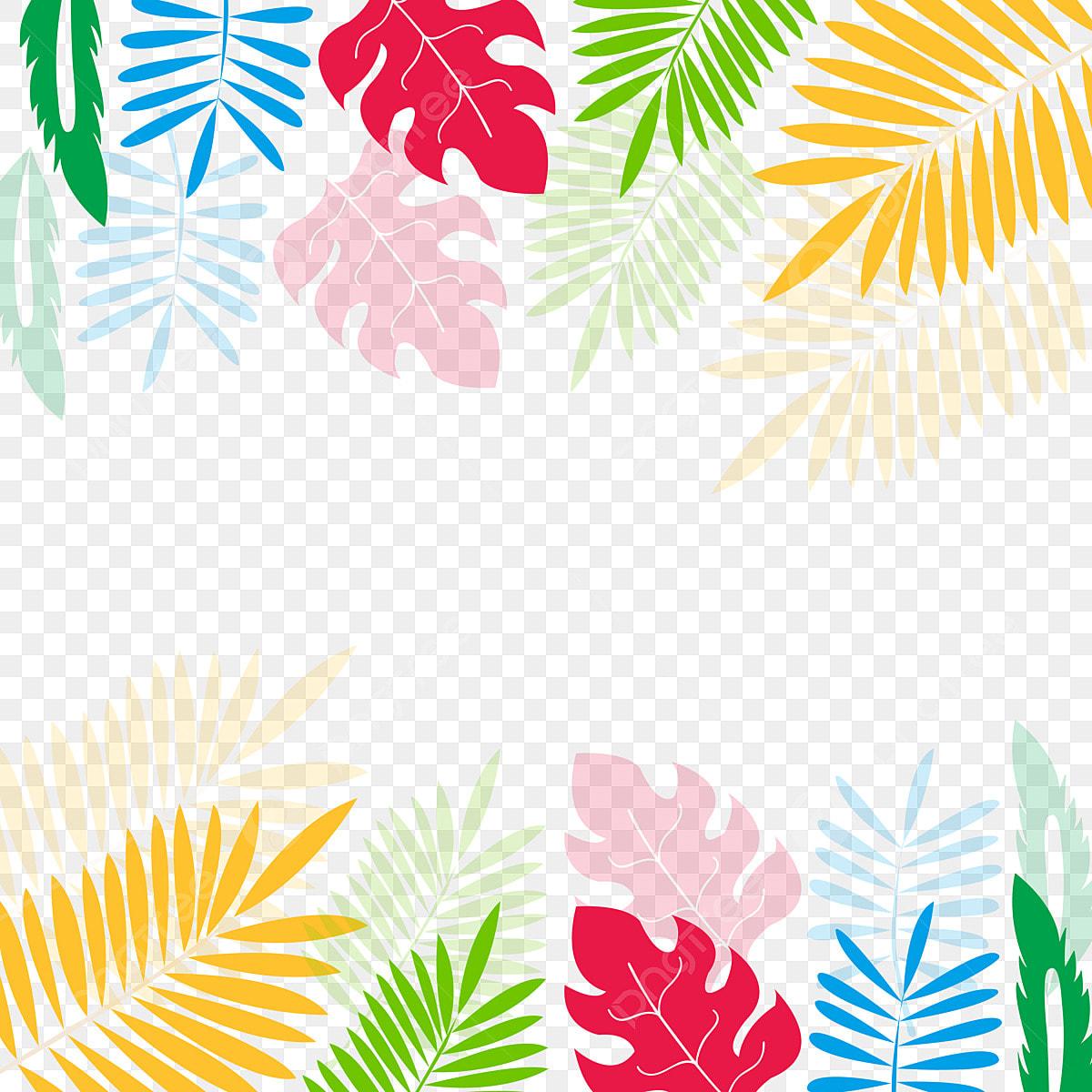 Digital Watercolor Tropical Leaf Watercolor Clipart Summer Clipart Greenery Clipart Jungle Clipart Palm Leaf Watercolor Floral Clipart