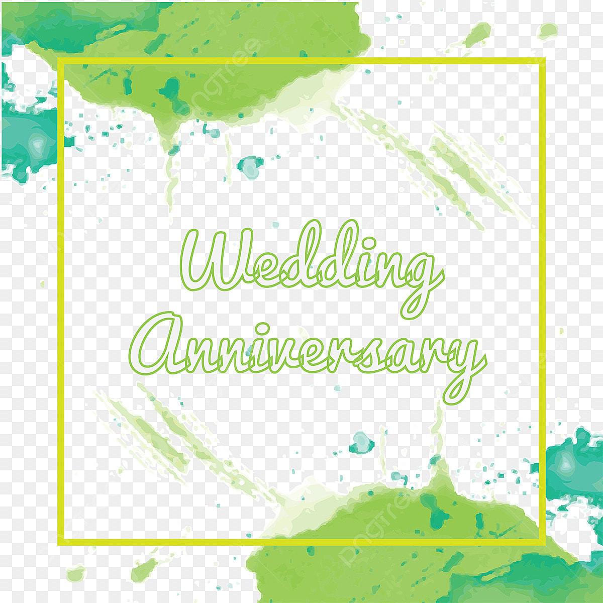 Watercolor Wedding Anniversary Color Splash Floral Frame