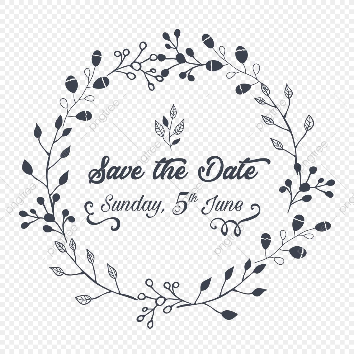 結婚式の招待日のイラストを保存, 結婚式の招待状、ビンテージ