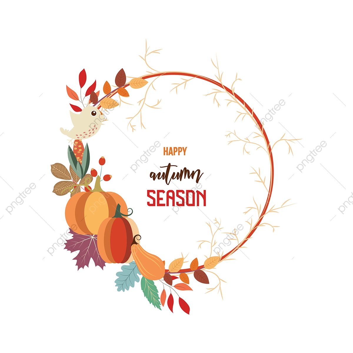 welcome autumn card  background  flower  card png and vector with transparent background for