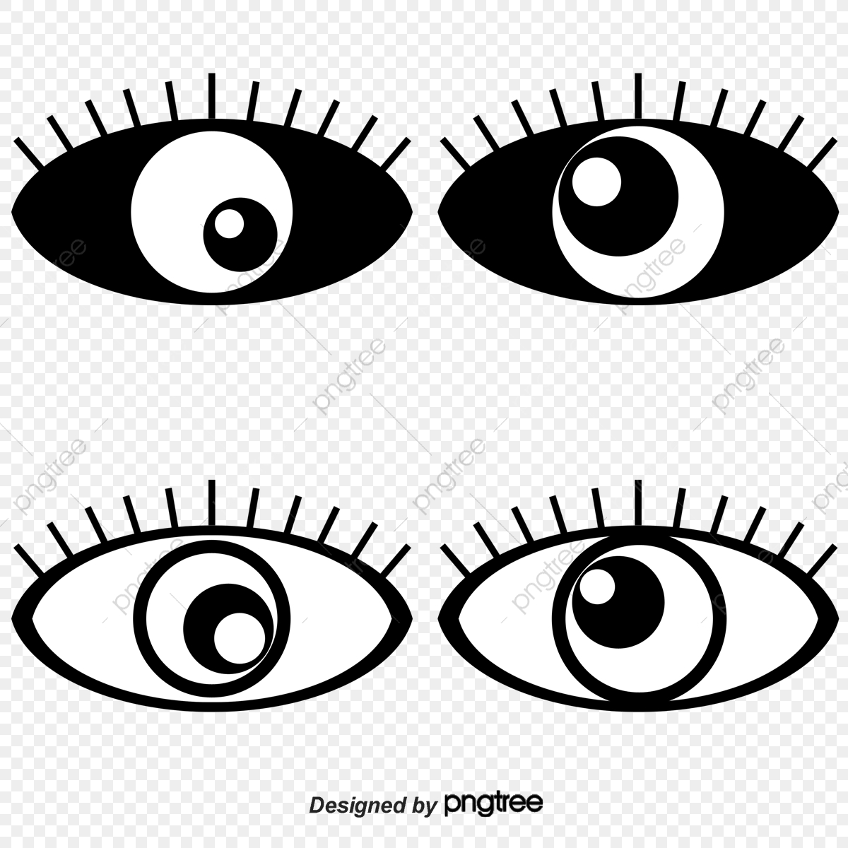 Free Eye Clip Art Black And White, Download Free Clip Art, Free Clip Art on  Clipart Library
